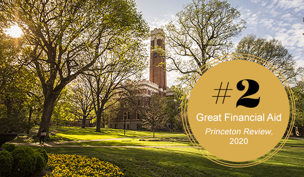 #2 Great Financial Aid. Princeton Review, 2020